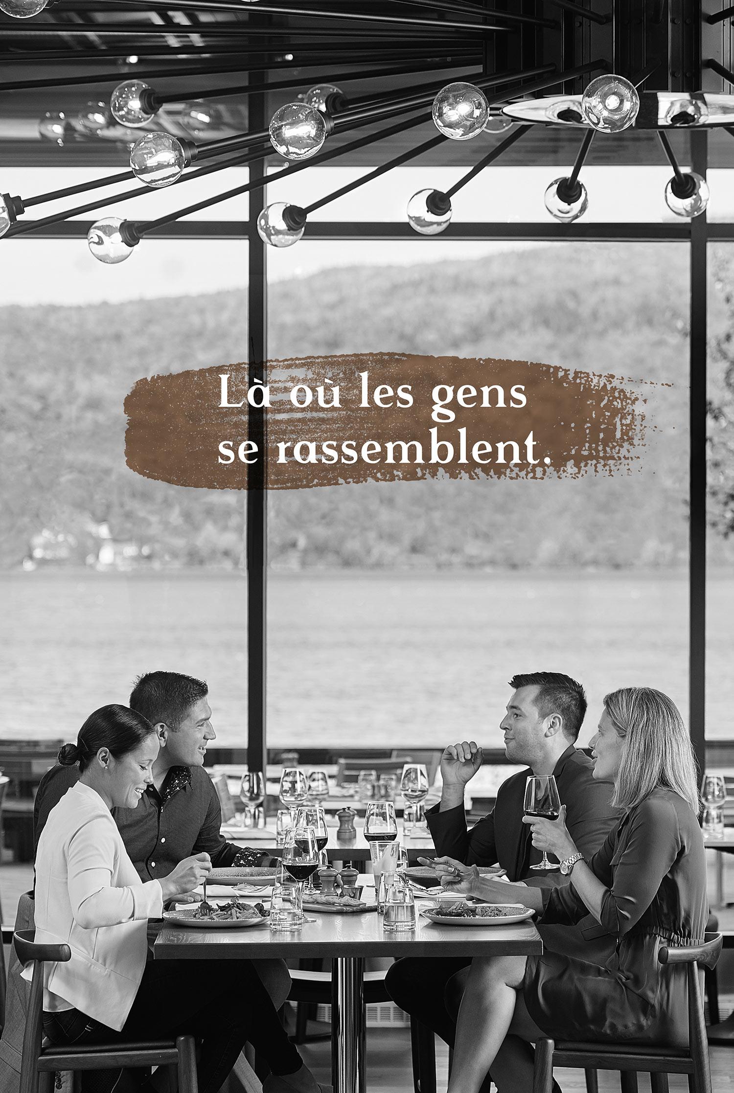 L'îlot restaurant - Là où les gens se rassemblent.